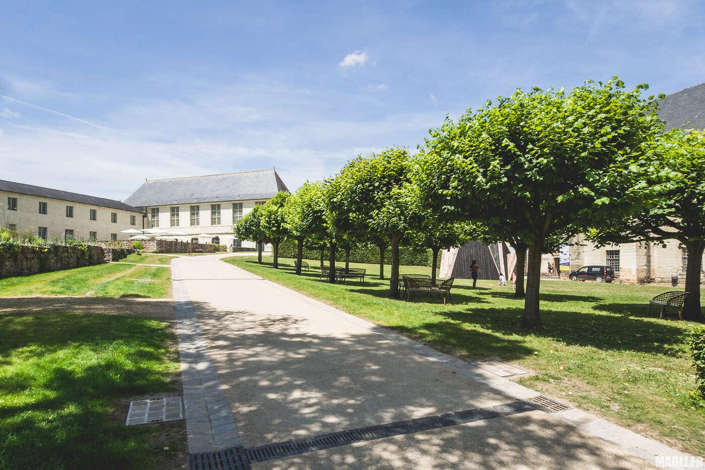 Jardin de l'abbaye de Fontevraud