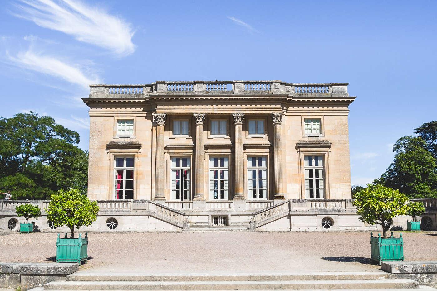 Façad Ouest du Petit Trianon, Jardins de Versailles