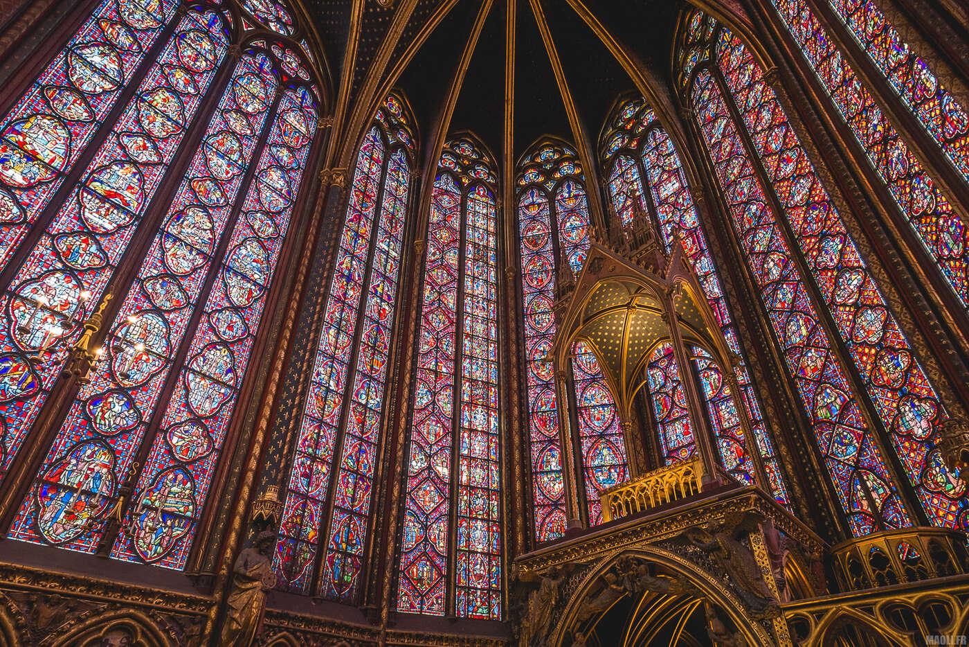 Sainte-Chapelle Paris - chapelle supérieure
