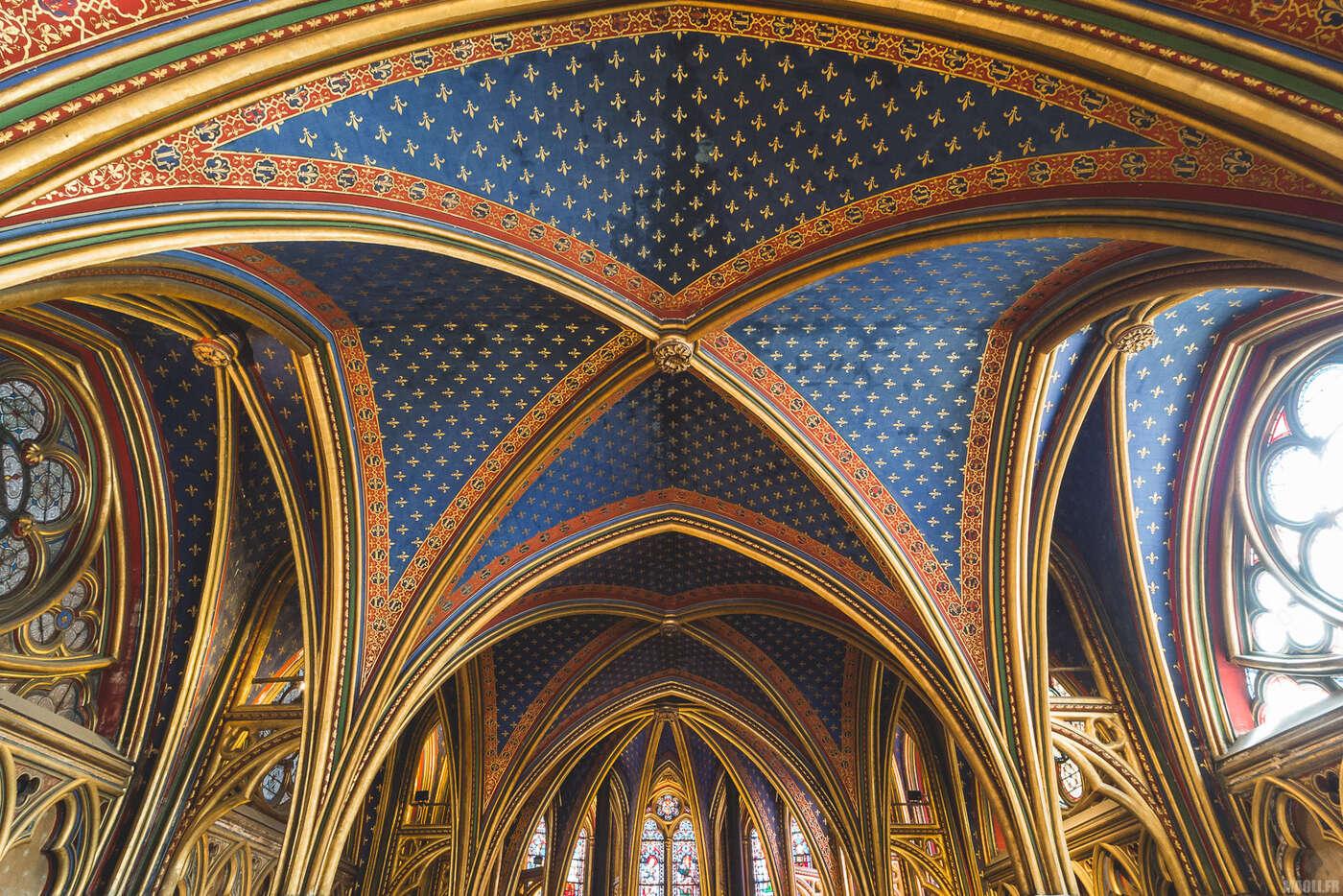 Sainte-Chapelle Paris - Voûtes chapelle inférieure