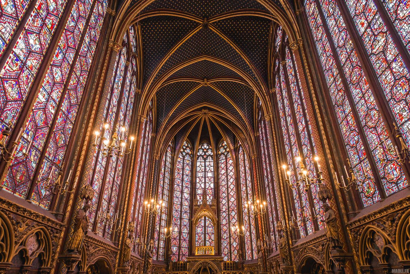 Sainte-Chapelle Paris - chapelle haute