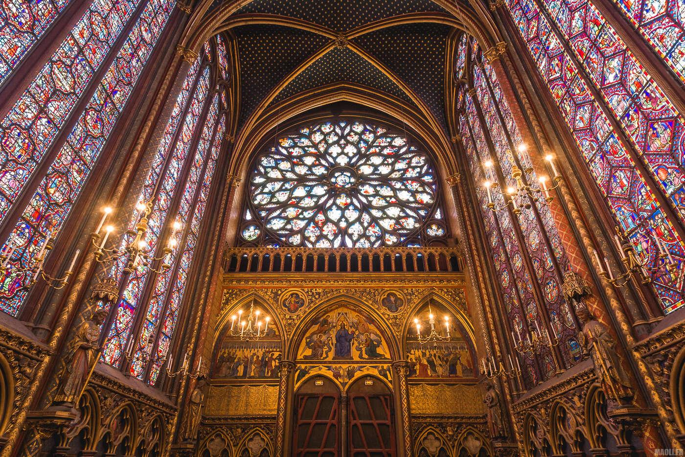 Sainte-Chapelle Paris - rosace chapelle supérieure