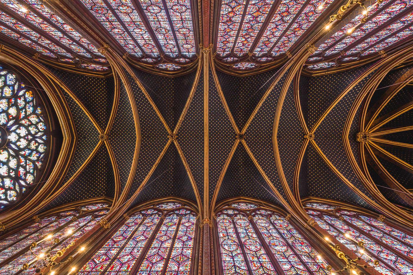 Sainte-Chapelle Paris - voûte chapelle supérieure