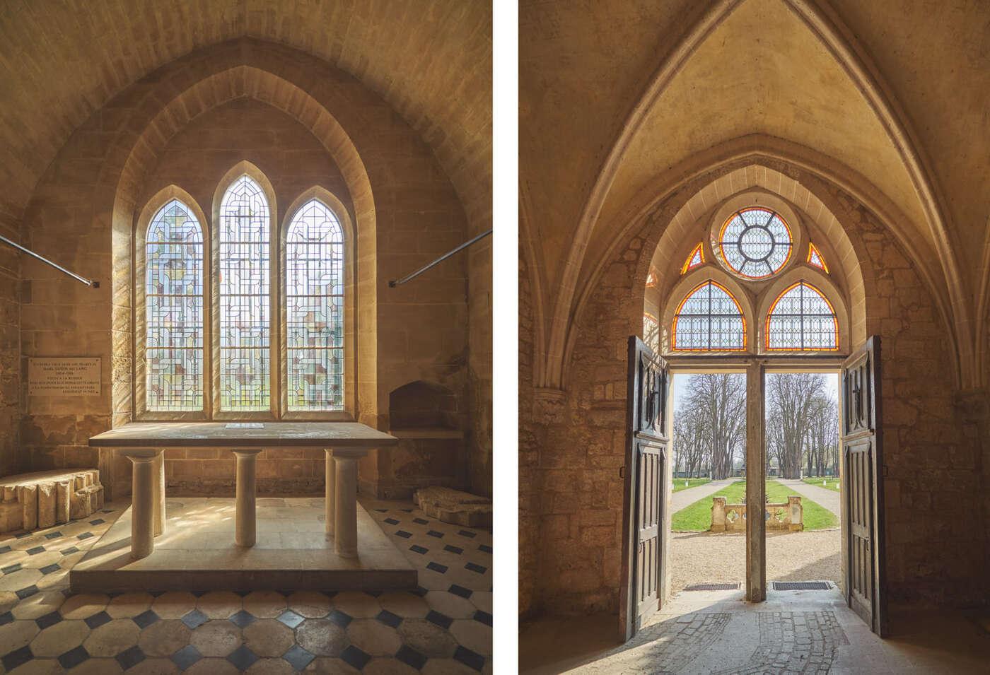 Sacristie et entrée de l'abbaye de Royaumont