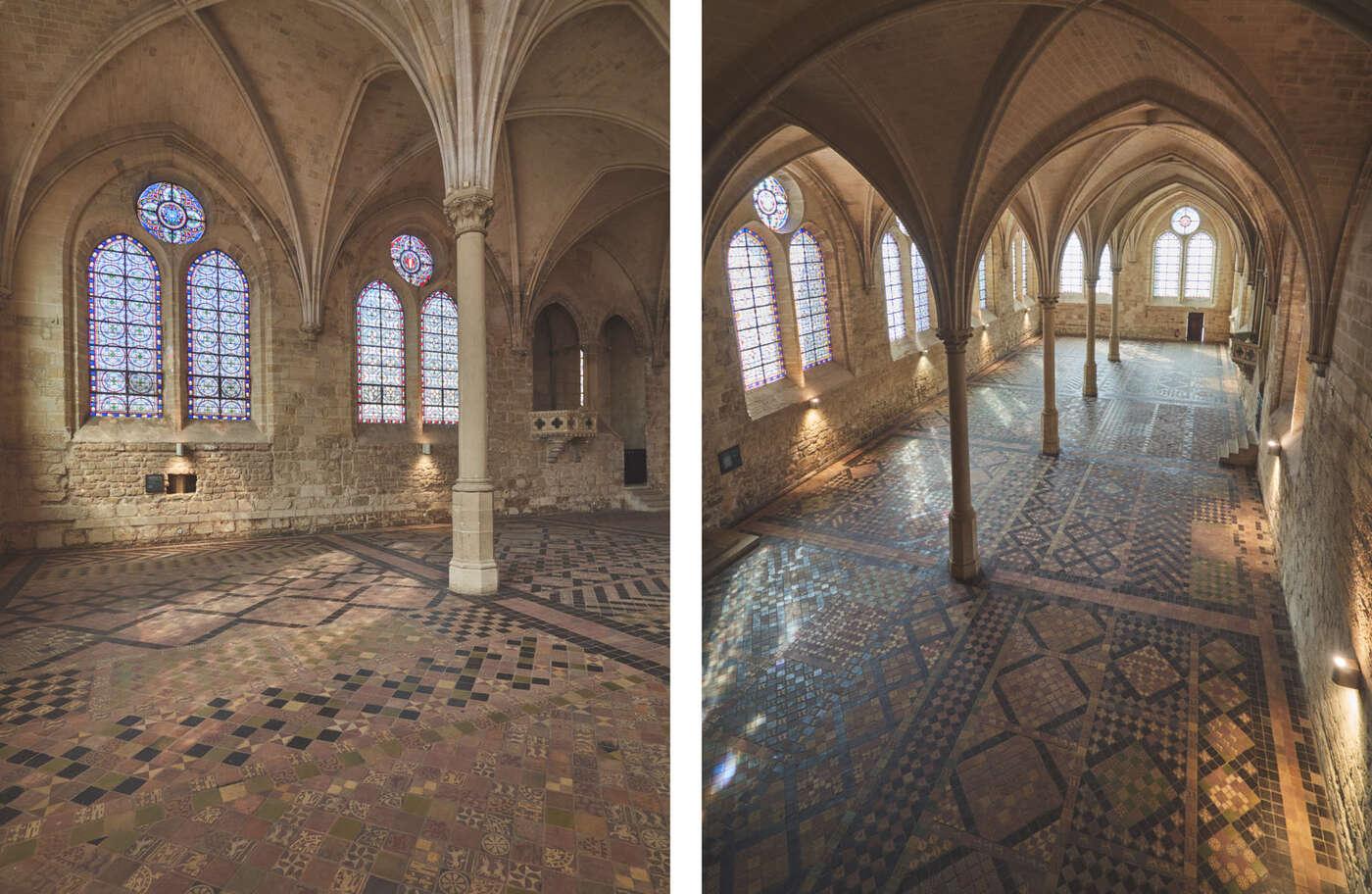 Réfectoire des moines, abbaye de Royaumont