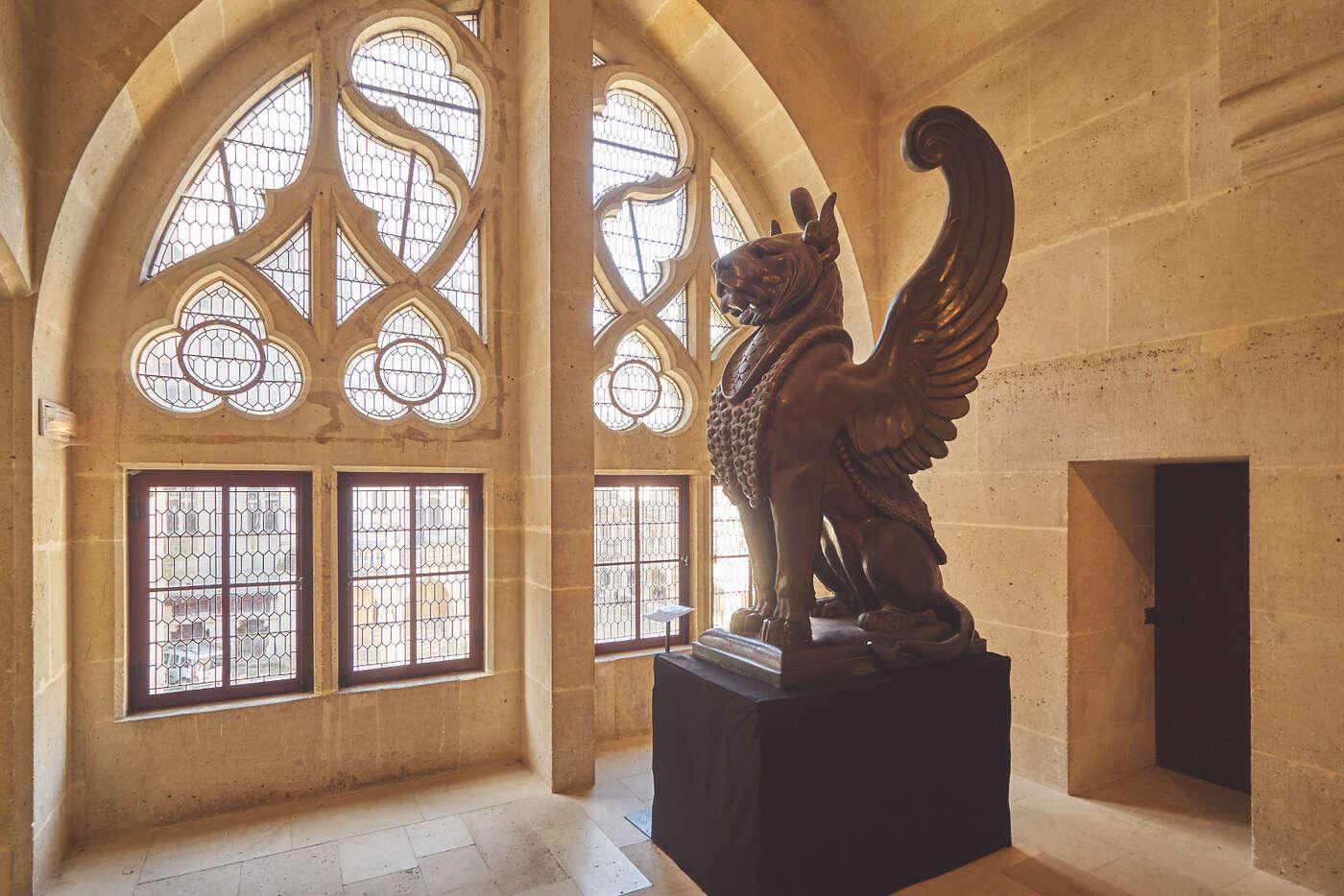 Lyon ailé, château de Pierrefonds