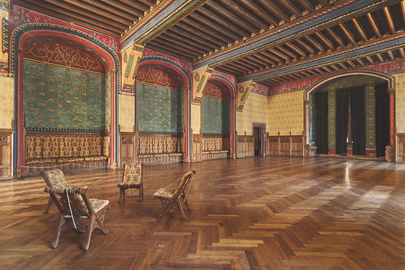 Salon de réception du château de Pierrefonds