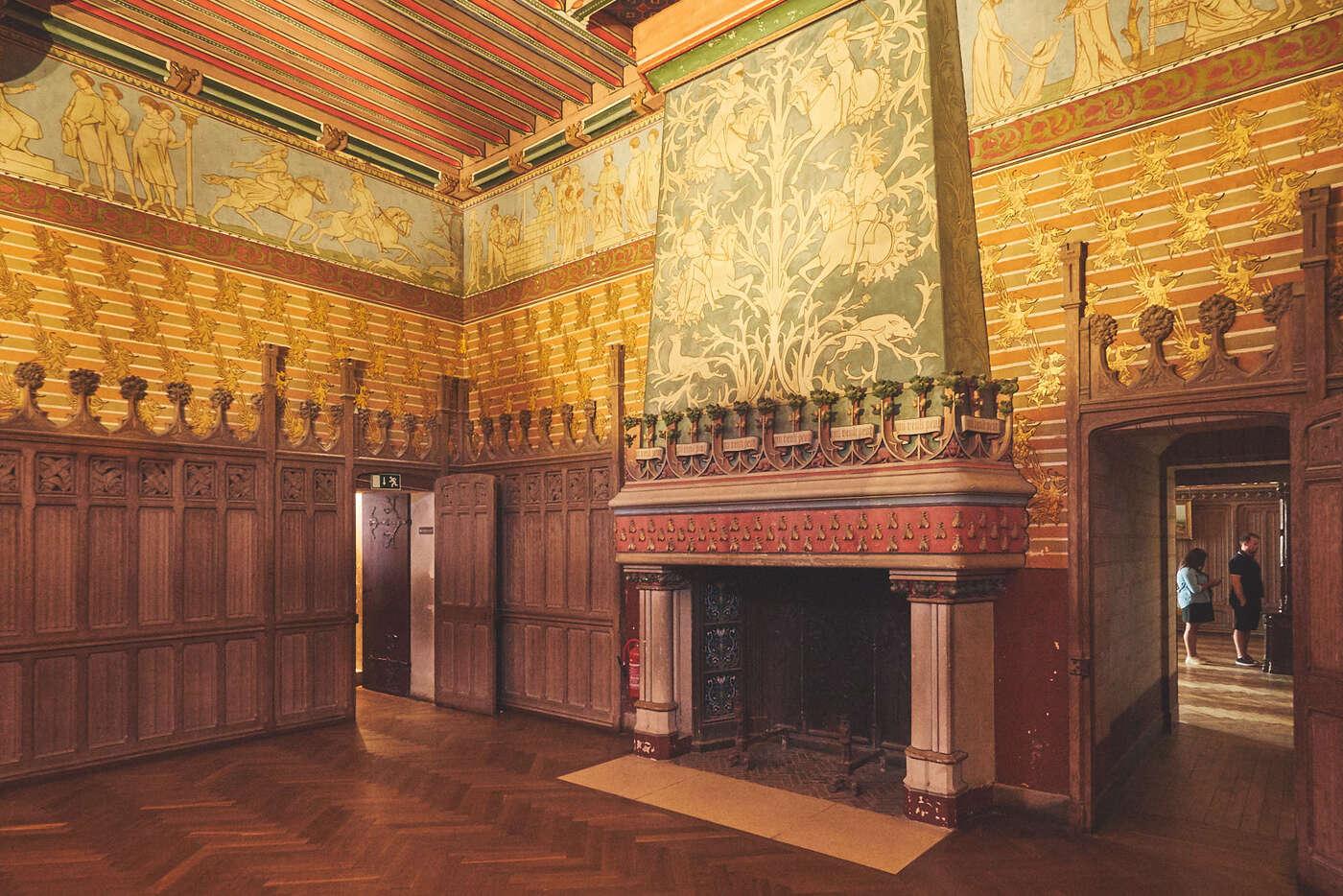 Chambre du Seigneur du château de Pierrefonds
