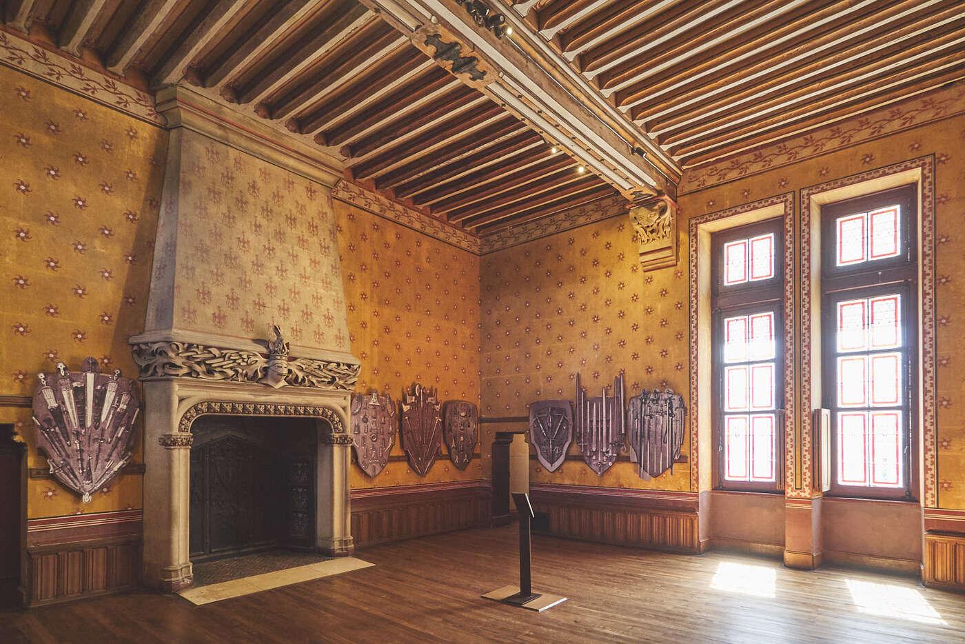 Salle d'armes du château de Pierrefonds