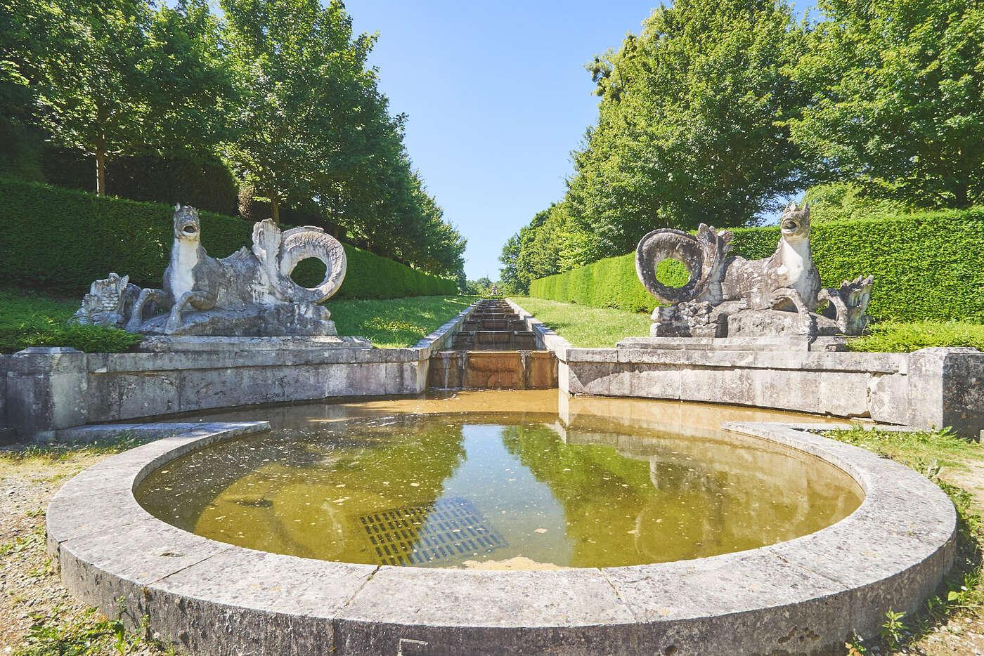Bassin au château de Bizy