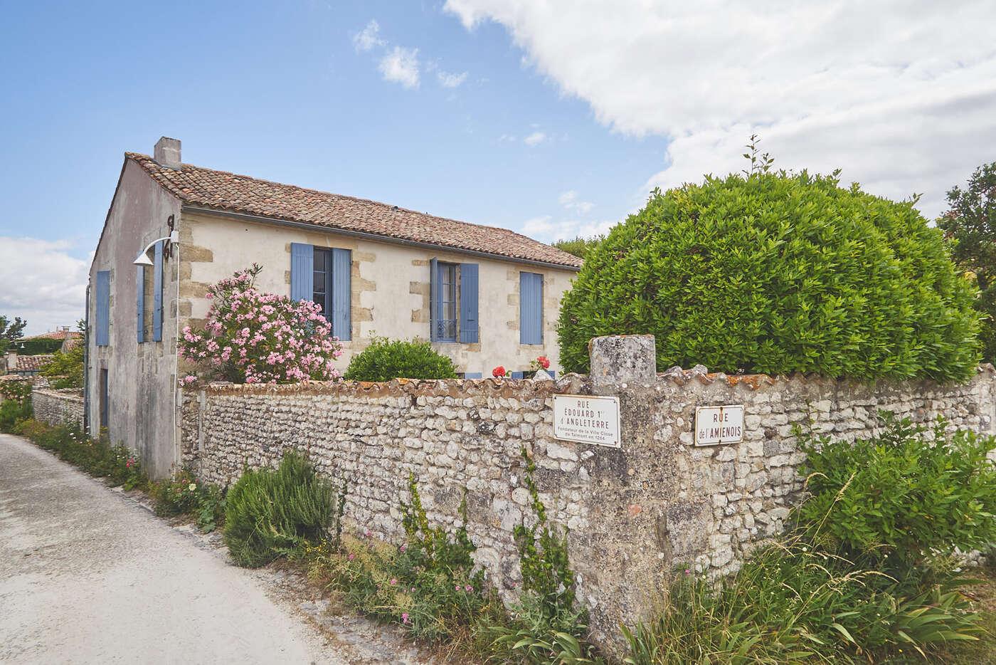 Angle de rue à Talmont-sur-Gironde