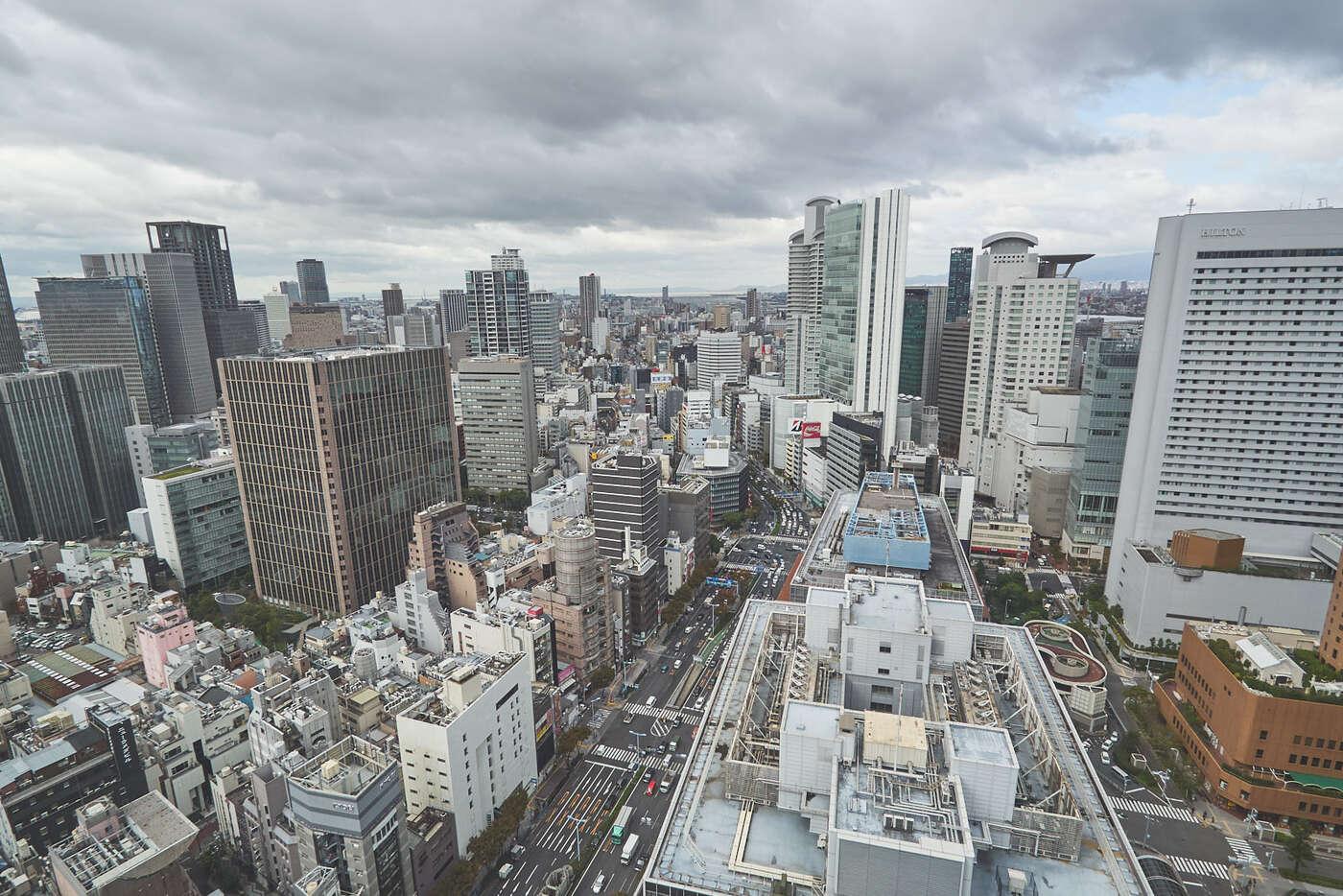 Toits d'Osaka