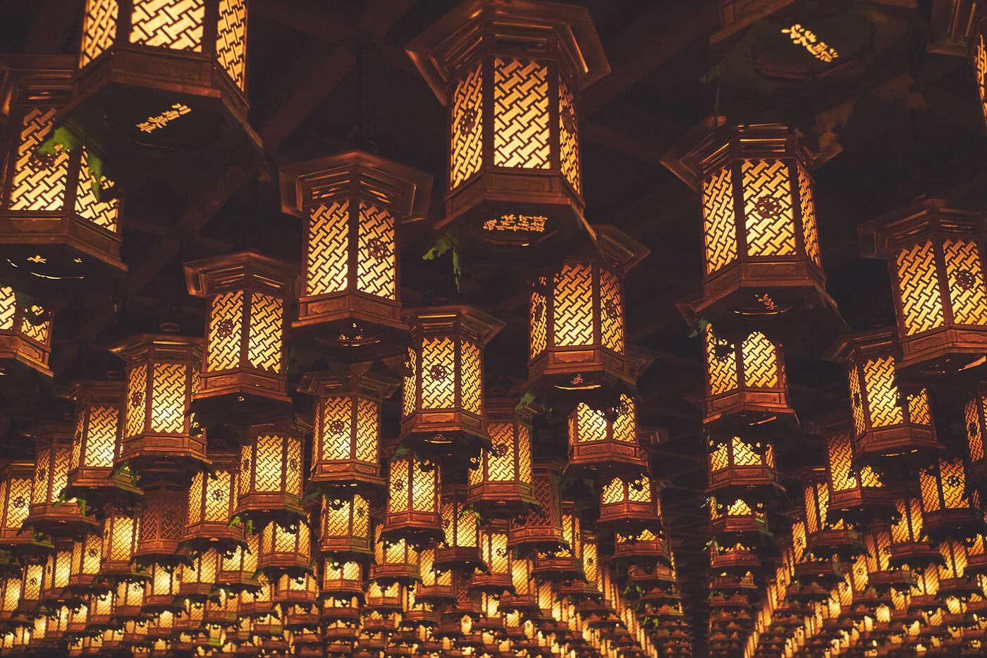 Lanternes du Daisho-in, Miyajima