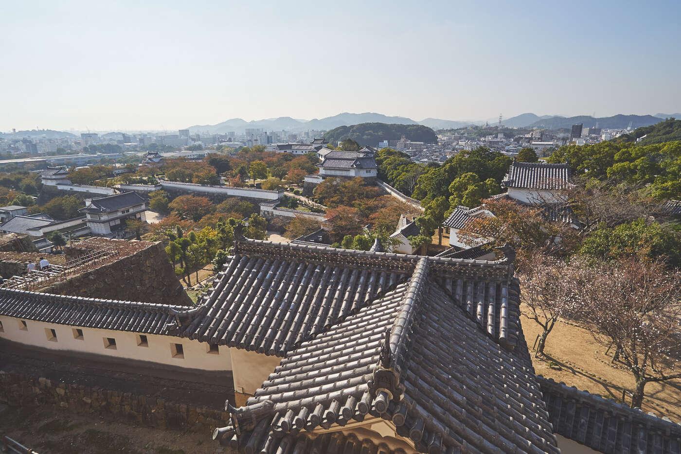 Vue du domaine du Château d'Himeji