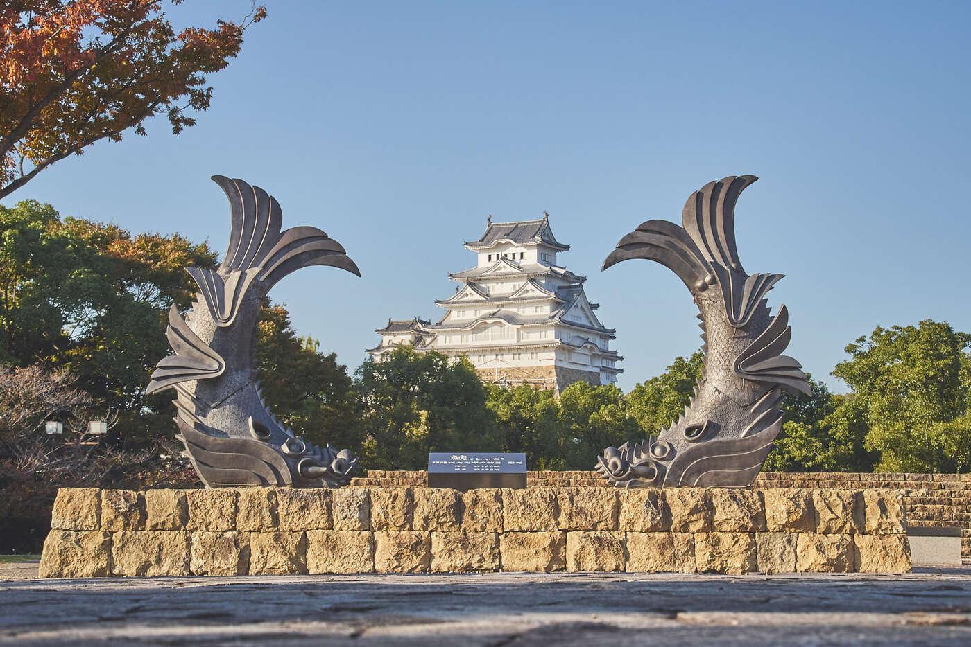 Point de vue sur le Château d'Himeji