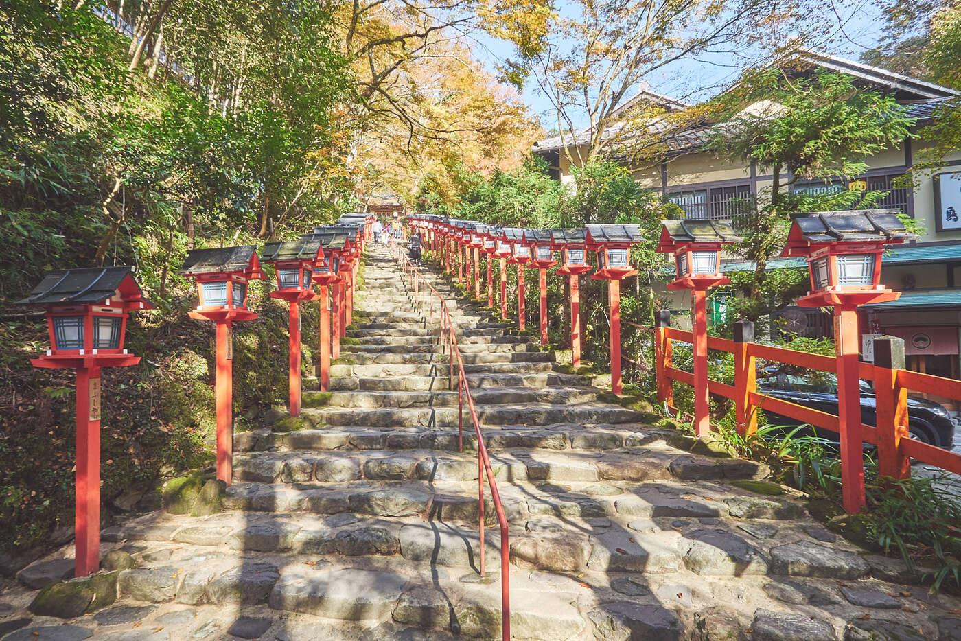 Entrée du sanctuaire Kifune, à Kibune