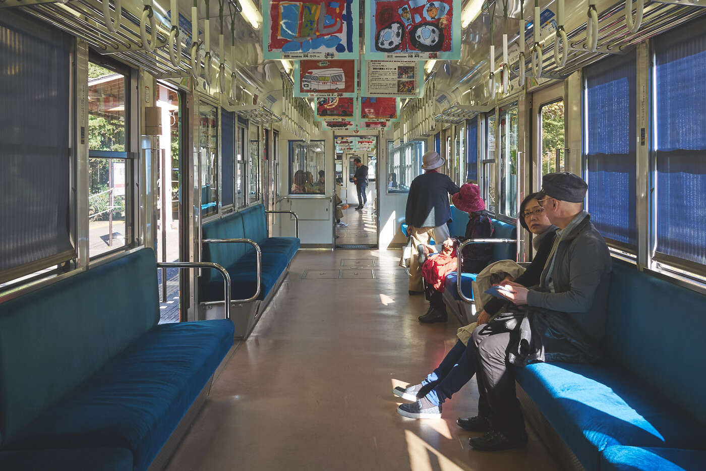 Train de la ligne Eizan, préfecture de Kyoto