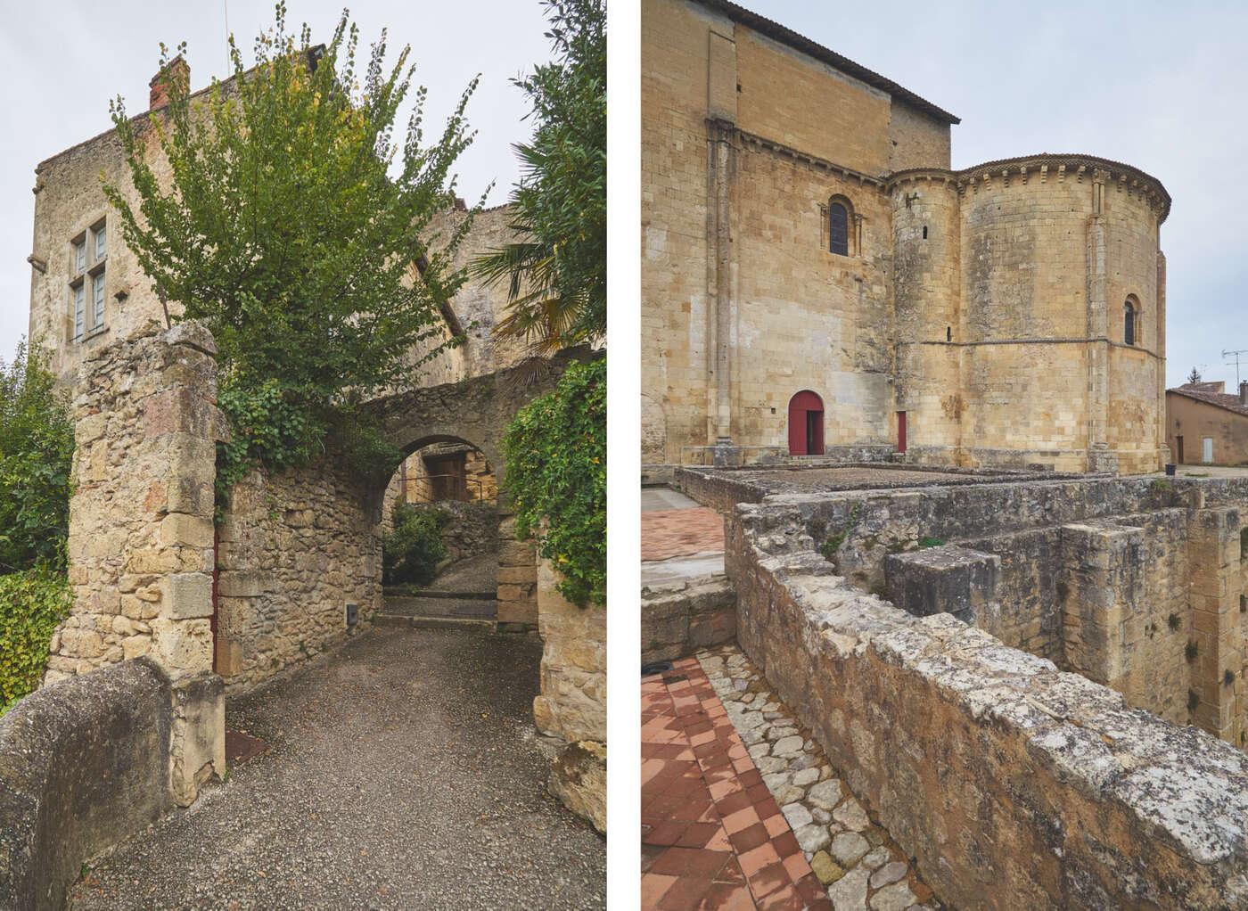 Ruelles et eglise de Saint-Macaire