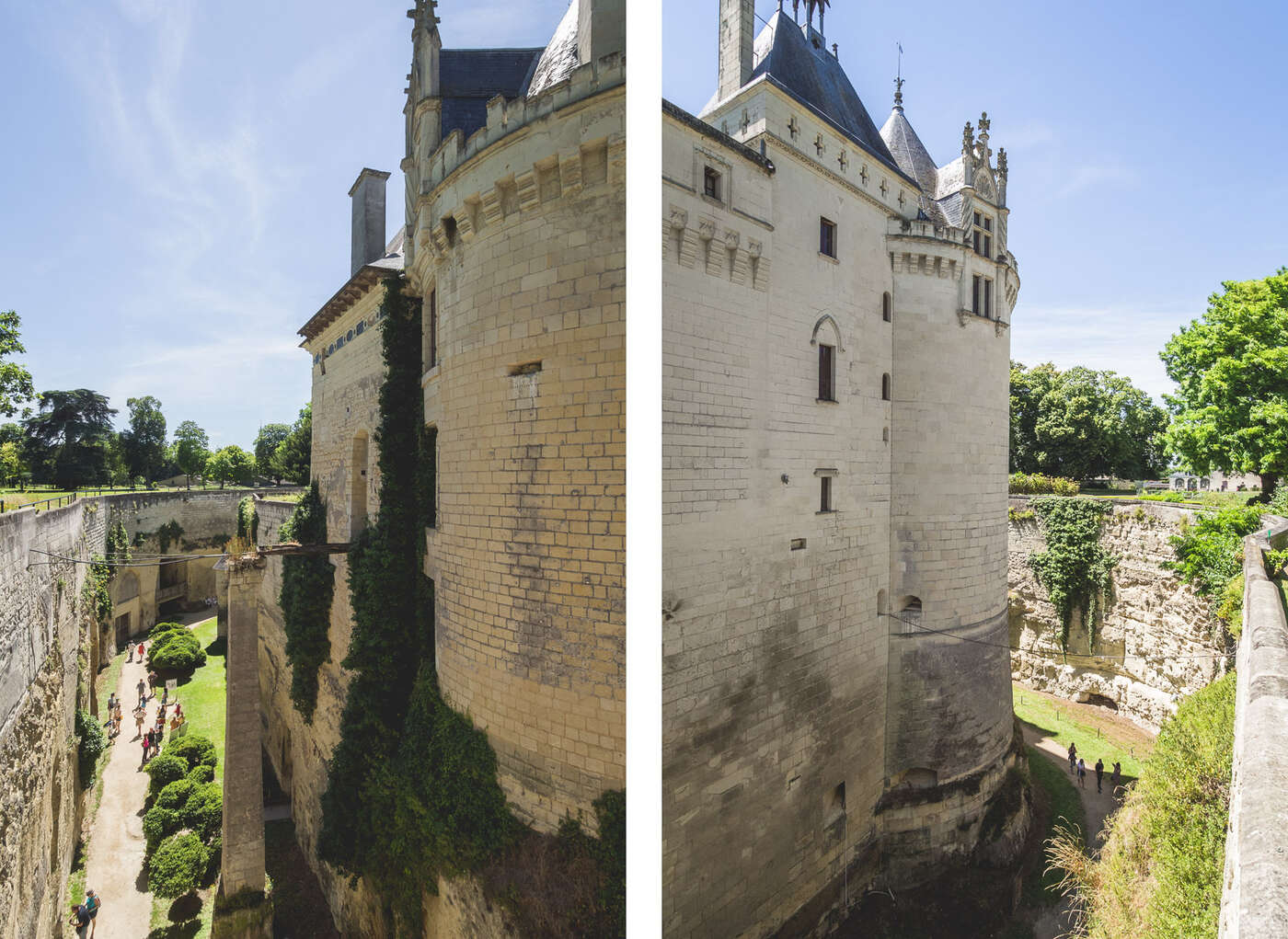 Fossés sur château de Brézé