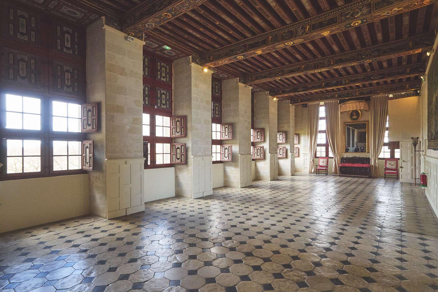 Grande galerie du château de Brissac