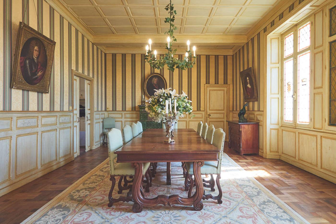 Salle à manger du château de Marqueyssac
