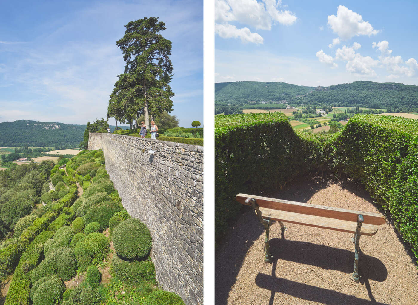 Points de vue des jardins de Marqueyssac