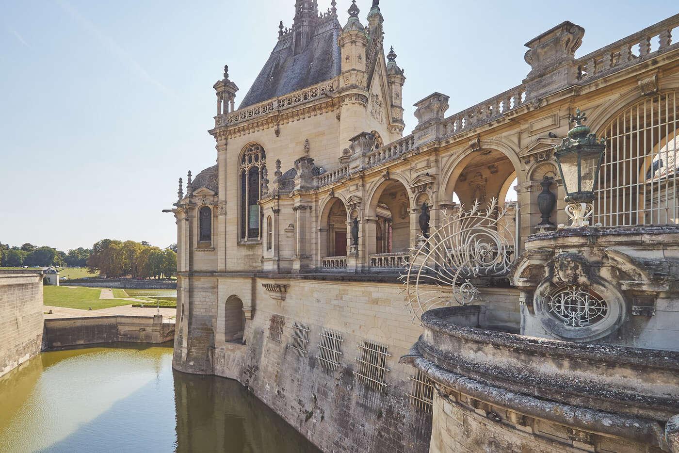 Douves du château de Chantilly