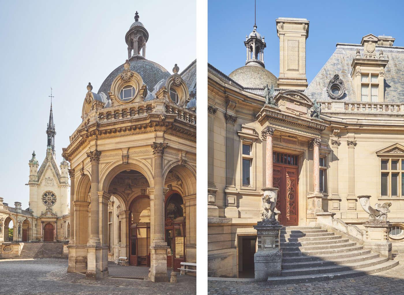 Cours du château de Chantilly