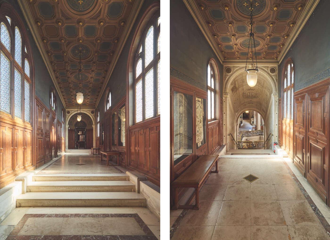 Couloirs de la chapelle du château de Chantilly