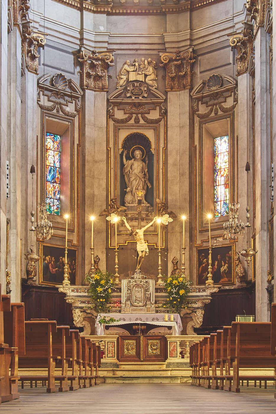 Coeur de l'église Saint-Jean-Baptiste de Bastia
