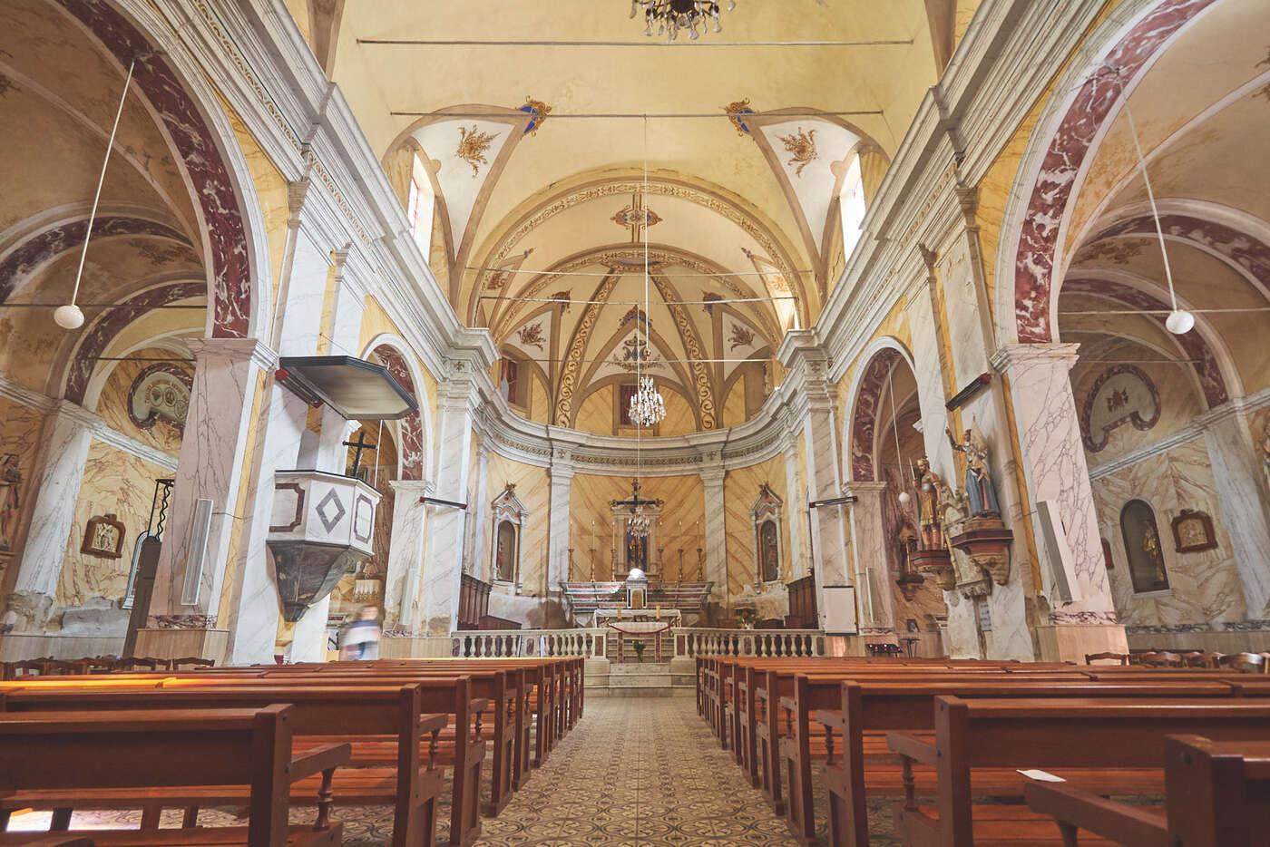Eglise de Lumio, en Balagne, Corse