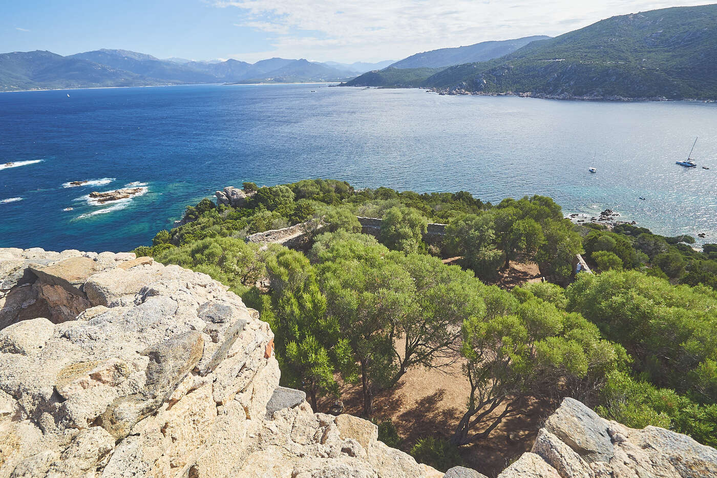 Vue depuis la tour de Campomoro, Corse