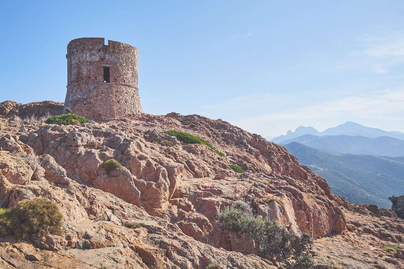 Turghiu, Randonnée du Capo Rosso, Corse