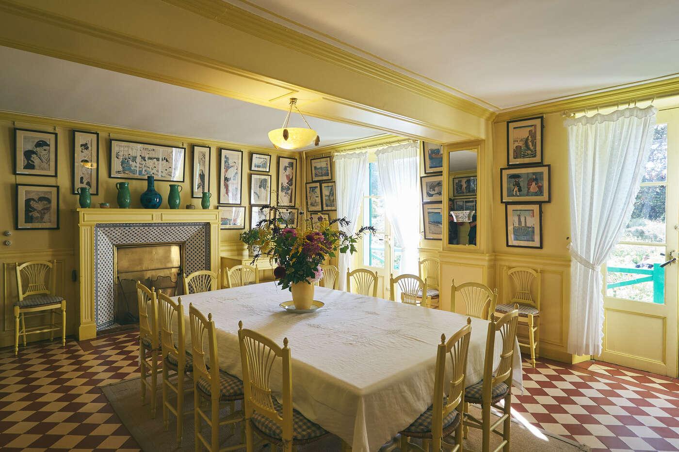 Salle à manger maison Claude Monet